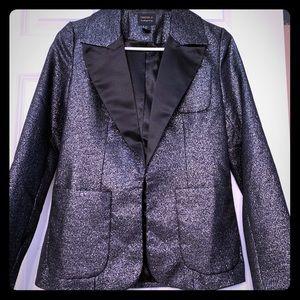 Black glitter blazer